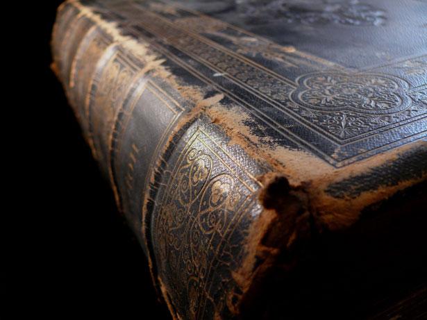 worn book