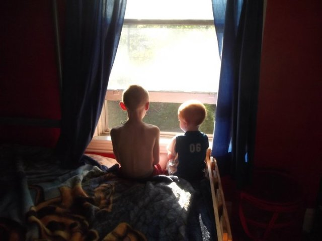 boys at the window