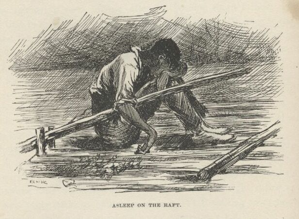 Illustration by E. W. Kemble,  from The Adventures of Huckleberry Finn